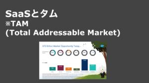 saaslife_SaaSとタム※TAM(Total Addressable Market)