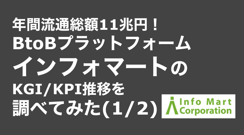 saaslife_年間流通総額11兆円!BtoBプラットフォームインフォマートのKGI/KPI推移を調べてみた(1/2)