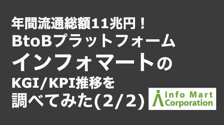 saaslife_年間流通総額11兆円!BtoBプラットフォームインフォマートのKGI/KPI推移を調べてみた(2/2)