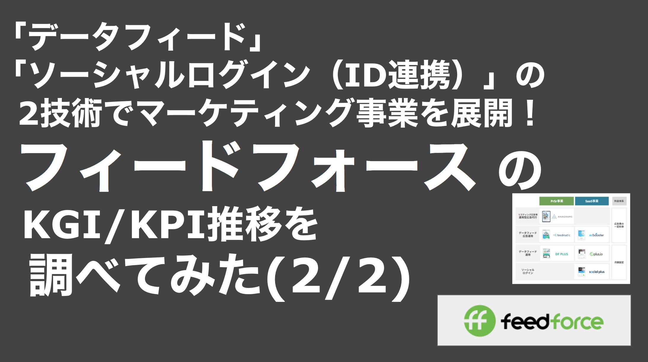 saaslife_「データフィード」「ソーシャルログイン(ID連携)」の2技術でマーケティング事業を展開!フィードフォース のKGI/KPI推移を調べてみた(2/2)