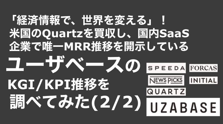 saaslife_「経済情報で、世界を変える」!米国のQuartzを買収し、国内SaaS企業で唯一MRR推移を開示しているユーザベースのKGI/KPI推移を調べてみた(2/2)